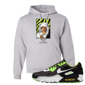 Air Max 90 Exeter Edition Black Hoodie | God Told Me, Ash