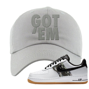 Air Force 1 Low Camo Dad Hat | Got Em, Light Gray