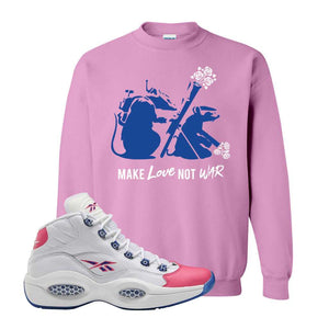 Question Mid Pink Toe Sweatshirt | Army Rats, Azalea