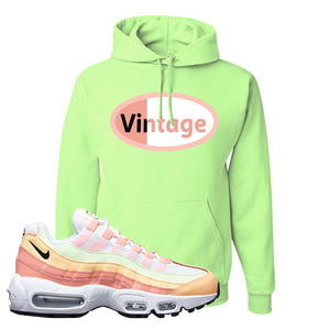 Air Max 95 WMNS Melon Tint Hoodie | Neon Green, Vintage Oval