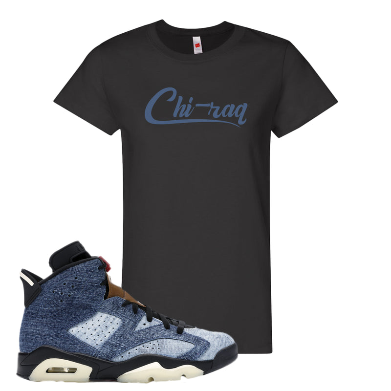 Jordan 6 Washed Denim Women's Shirt | Black, Chiraq