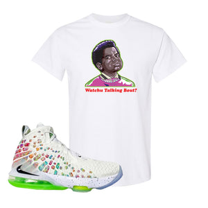 Lebron 17 Air Command Force T Shirt | Watchu Talking Bout, White