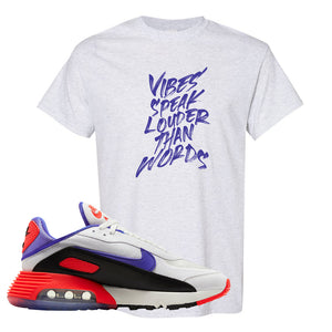 Air Max 2090 Evolution Of Icons T Shirt | Vibes Speak Louder Than Words, Ash