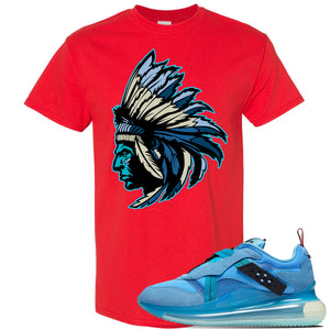 Air Max 720 OBJ Slip Light Blue T Shirt | Red, Indian Chief