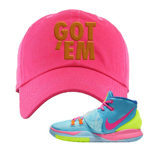 Kyrie 6 Pool Dad Hat | Pink, Got Em