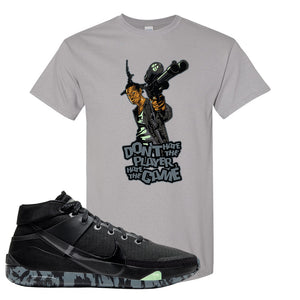 Nike KD 13 Black And Dark Grey T-Shirt | Dont Hate The Playa, Gravel