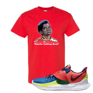 Kyrie Low 3 NY vs NY T Shirt | Watchu Talking Bout, Red