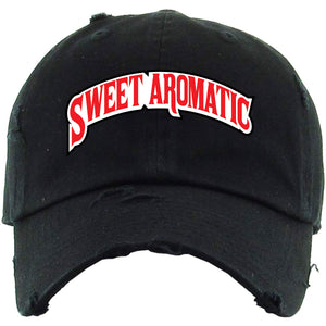 Backwoods Sweet Aromatic Black Distressed Dad Hat