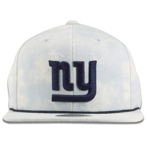 New York Giants Acid Wash Denim Adjustable Snapback Hat
