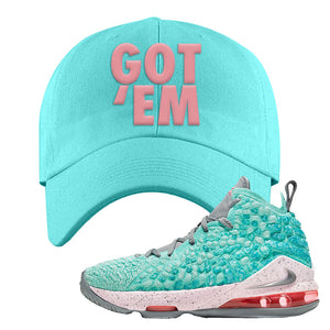 LeBron 17 'South Beach' Dad Hat | Diamond Blue, Got Em