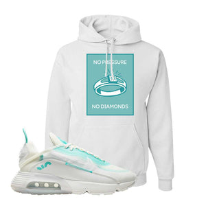 Air Max 2090 Pristine Green Hoodie | White, No Pressure No Diamond