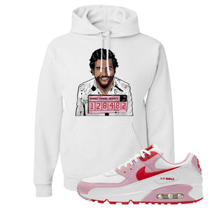 Air Max 90 Love Letter Hoodie | Escobar Illustration, White