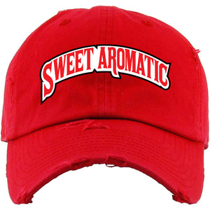 Backwoods Sweet Aromatic Red Distressed Dad Hat