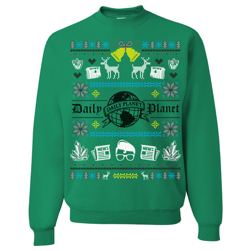 FOOT CLAN | DAILY PLANET UGLY SWEATER | CREWNECK SWEATSHIRT | KELLY