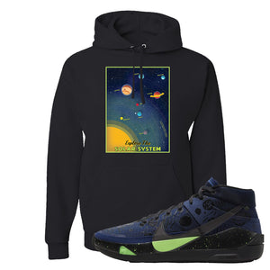 KD 13 Planet of Hoops Hoodie | Vintage Space Poster, Black