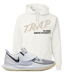 Kyrie Low 3 Hoodie | White, Trap To Rise Above Poverty