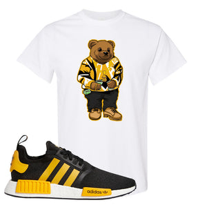 NMD R1 Active Gold T Shirt | White, Sweater Bear