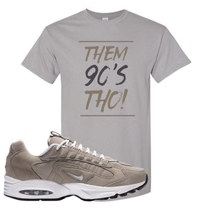 Air Max Triax 96 Grey Suede T Shirt | Them 90's Tho, Gravel