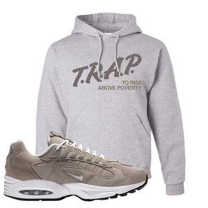 Air Max Triax 96 Grey Suede Hoodie | Trap To Rise Above Poverty, Ash