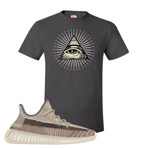 Yeezy 350 v2 Zyon T Shirt | Smoke Grey, All Seeing Eye