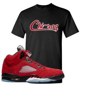 Air Jordan 5 Raging Bull T Shirt | Chiraq, Black