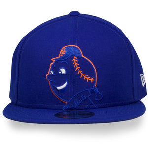 New York Mets XL Logo Elements Royal Blue 9Fifty New Era Snapback Hat