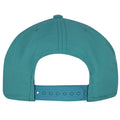 Color matching adjustable snap with the base hat can be seen on the back of this Miami Dolphins snapback cap