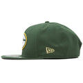 Left side shows New Era Flag logo of this New Era Green Bay Packers hat