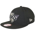on the left side of the los angeles kings 2x stanley cup champions snapback hat is the new era logo embroidered in silver