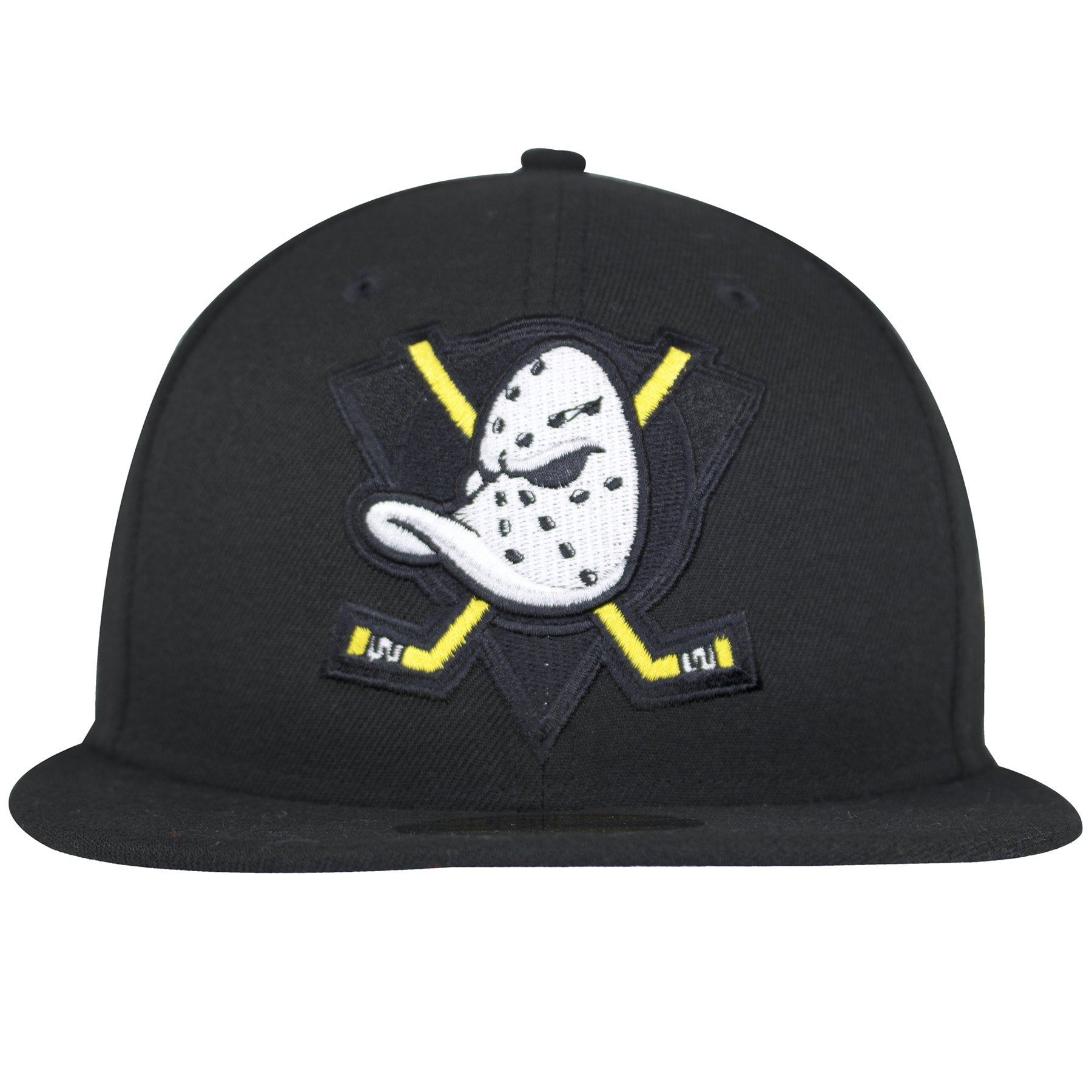 This New Era Anaheim Ducks Fitted Hat has the Mighty Ducks logo on the  front with 4227d30684a