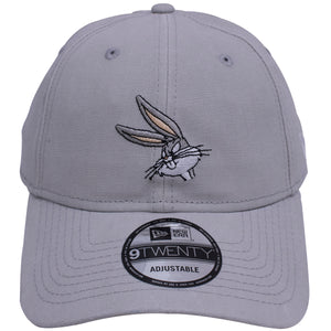 the bugs bunny rugged wash gray character dad hats is solid gray with a bugs bunny logo on the front