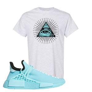Pharell x NMD Hu Aqua T Shirt | All Seeing Eye, Ash