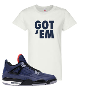 Jordan 4 WNTR Loyal Blue Got Em White Sneaker Hook Up Women's T-Shirt