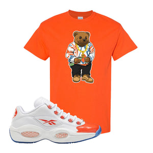 Question Low Vivid Orange T-Shirt | Sweater Bear, Orange