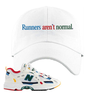 Aime Leon Dore X New Balance 827 Abzorb Multicolor 'White' Dad Hat | White, Runners Aren't Normal