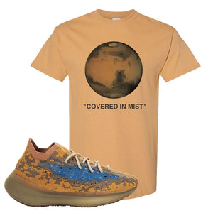 Yeezy Boost 380 'Blue Oat' T Shirt | Old Gold, Covered In Mist