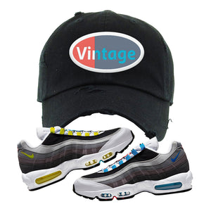 Air Max 95 QS Greedy Distressed Dad Hat | Black, Vintage Oval