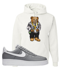Air Force 1 Low Wolf Grey White Hoodie | White, Sweater Bear
