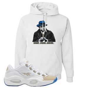 Reebok Question Low Oatmeal Hoodie | White, Capone Illustration