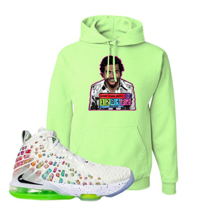 Lebron 17 Air Command Force Hoodie | Neon Green, Escobar Illustration