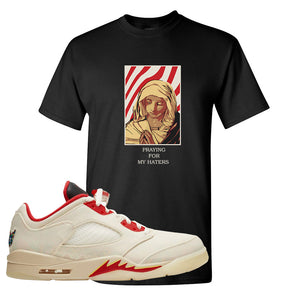 Air Jordan 5 Low Chinese New Year 2021 T Shirt | God Told Me, Black