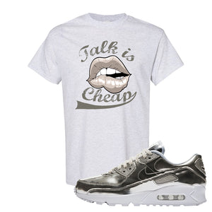 Air Max 90 WMNS 'Medal Pack' Chrome Sneaker Ash T Shirt | Tees to match Nike Air Max 90 WMNS 'Medal Pack' Chrome Shoes | Talk is Cheap