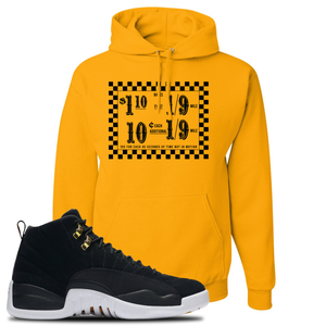 Taxi Fare Gold Pullover Hoodie To Match Jordan 12 Reverse Taxi Sneakers