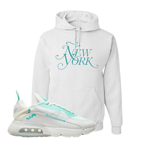Air Max 2090 Pristine Green Hoodie | White, New York