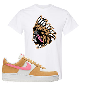 Nike Air Force 1 Pink Orange T-Shirt | Indian Chief, White