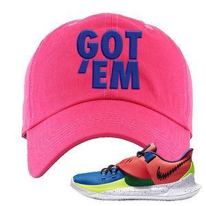 Kyrie Low 3 NY vs NY Dad Hat | Got Em, Pink