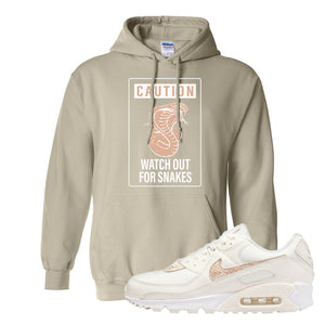 Air Max 90 Beige Snakeskin Hoodie | Caution Snakes, Sand