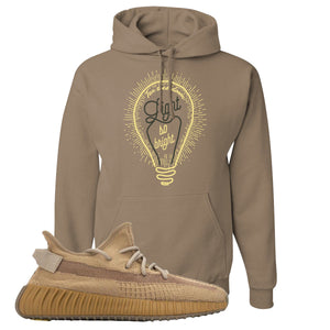 Yeezy Boost 350 V2 Earth Sneaker Hoodie To Match | Pop of Yellow, Safari