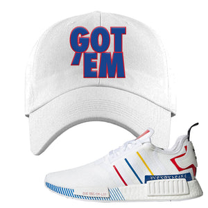 NMD R1 Olympic Pack Dad Hat | White, Got em