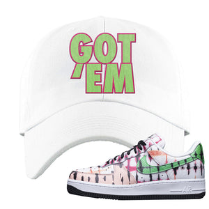 Air Force 1 Low Multi-Colored Tie-Dye Dad Hat | White, Got Em